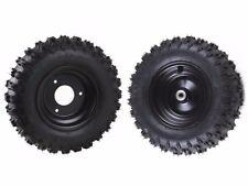 Pair of 4.10x6 4.10-6 Front & Rear Tire Wheel Rim For Kids Scooter Go Kart ATV