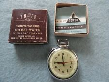Watch with the Original Box Vintage Tower Mechanical Wind Up Pocket