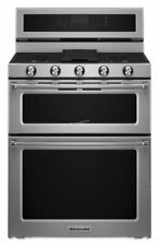 KitchenAid 30'' 5 Burner Gas Double Oven Convection Range Kfgd500Ess