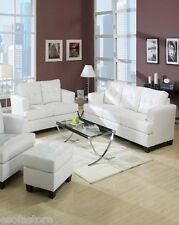 Acme 15095 Platinum 2pcs White Bonded Leather Sofa Set Loveseat