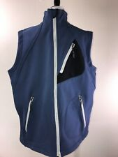 PEARL IZUMI Men's Blue Black White Zip Up Sleeveless Vest Size L