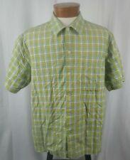 Levi's Silvertab Men's Short Sleeve Button Front Shirt Multicolor Check Cotton L