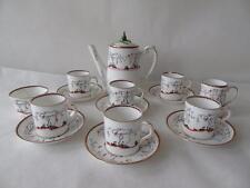 Rare Vintage Paragon Star Arcadia Orange Tea Coffee Set for Six (14pcs)