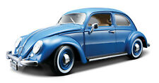 VOLKSWAGEN BEETLE 1:18 Scale NEW Diecast Model Car Miniature Toy Blue