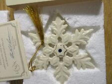 Lenox 2004 The Jeweled Snowflake Ornament Exclusive Ornament Club Piece Mint
