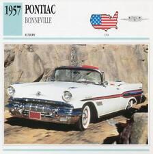 1957 PONTIAC BONNEVILLE Classic Car Photograph / Information Maxi Card