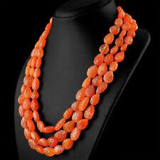 Edelsteinkette Schwarz Karneol (Carnelian) 50cm Collier Halskette 12-18 mm Perle