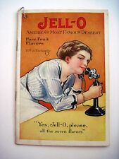 "Vintage ""Jell-O"" Dessert Booklet w/ Woman On Old Time Telephone  *"
