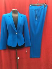 """TAHARI BY ARTHUR LEVINE PANT SUIT/SIZE 10/INSEAM 31""""/NEW WITH TAG/LAGOON BLUE"""