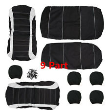 Universal 9 pcs  5-Seats Auto Car Seat Covers Breathable Accessories Protect