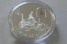 2000 PROOF SILVER HOLOGRAM $20 H S TAYLOR STEAM BUGGY CAR SERIES BOX & COA