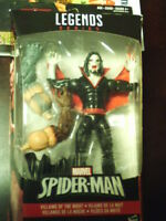 "2016 HASBRO SPIDER-MAN~VILLIANS OF NIGHT~MORBIUS~ 6"" ACTION FIGURE~NIB~WITH BAF"