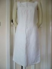 JESIRE TAILORED WHITE LINEN DRESS FULLY LINED, BRAND NEW, SIZE 8, EURO 36