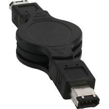 CAVO FIREWIRE RETRATTILE 6 pin 1,2M per fotocamere lettori dvd notebook computer