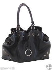 FURLA BLACK pebbled LEATHER large TOTE SATCHEL BAG handbag Purse NEW $448