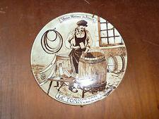 Antigua plato en porcelana de Francia Castelroux, déco fabricante de vinos