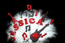 Personalizzata qualsiasi nome e età chitarra / MUSICA PIUMA COMPLEANNO CAKE TOPPER