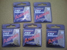 50 x Kamasan Animal Eyed Barbless. Size 18  Hooks.