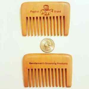 The Gentleman's Compact Wooden Beard Comb by Pugilist Brand