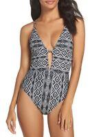 La Blanca Swimwear One-Piece Swimsuit LB8KB19 Black Size 12