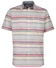 NEW Bob Timberlake Men's Short Sleeve Stripe Woven Shirt Size Large