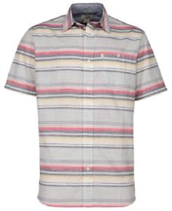 NEW Bob Timberlake Men's Short Sleeve Stripe Woven Shirt Size Medium