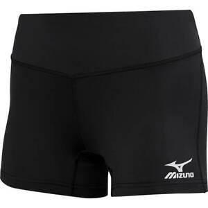 NWT Mizuno Vortex Women's/Girls Volleyball Shorts - Black - 440202