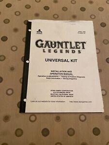 Gauntlet Legends Video Game Universal Kit Installation & Operation Manual Atari