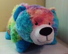 """Tie Dye Teddy Bear Plush Pillow Stuffed animal toy Large 21"""" Pillow Pets"""