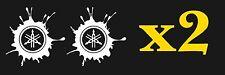 2x YAMAHA RACING Sticker Motocross 4X4 Window Ute Van