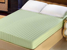 x1 Queen Size 100% Cotton 300TC Fitted Sheet - Stripe - Hotel Collection - LASIN