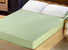 x1 Cal King California King Size 100% Cotton 300TC Fitted Sheet - Stripe
