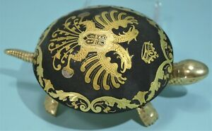 Toledo Spanish Iron Works Damascening Turtle Ring Bell Eibar