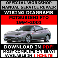 # OFFICIAL WORKSHOP SERVICE Repair MANUAL MITSUBISHI FTO 1994-2001 +WIRING#