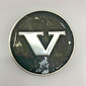 "Volvo Vintage Wheel Center Cap Black & Chrome ""V"" Logo"