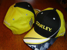 Carl Edwards #19 Stanley Racing Salute yw/blk cap hat CFS NEW IN STOCK