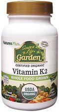 Nature's Plus Source of Life Garden Organic Vitamin K2 120mcg 60 Vegi Caps