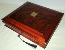 More details for lovely victorian mahogany & brass trinket/collectors,games etc. box with key