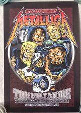 Metallica Fillmore San Francisco 2011 Concert Poster December 10th