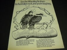 Wheatley Brothers Australian Rock.You're Laughing 1979 Promo Poster Ad mint