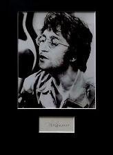 JOHN LENNON  signed autograph PHOTO DISPLAY The Beatles