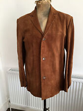 "Original Vintage 60s Suede Jacket (mid brown) Mod, Indie, Psych, 42"" Chest"