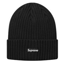 Supreme 17S/S Overdyed Ribbed Beanie Black 1000% Authentic