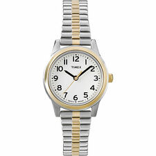 Timex T2N068, Women's Two-Tone Expansion Watch, Indiglo, T2N0689J
