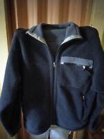 Vintage PATAGONIA SYNCHILLA Mens M/ MEDIUM Full Zip Black Gray Fleece Jacket