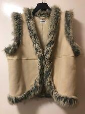 Topshop faux fur gilet Size 12