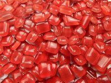 Unregelmäßige Mosaiksteine zum Basteln Polygonal Rot 500g Softglas Glastropfen