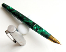 Wing Sung 237 Fountain Pen Green Celluloid pen fine