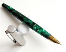 Wing Sung 237 Fountain Pen Green Celluloid pen fine