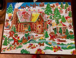 "Hallmark Sprinbok 400Pc. ""Gingerbread Fun"" 21"" X 27"" Jigsaw Puzzle EC"